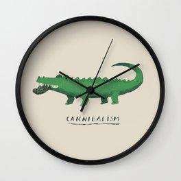 croc cannibalism Wall Clock