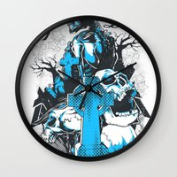 tomb raider Wall Clocks featuring Tomb by Tshirt-Factory