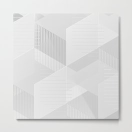messy geometry in white Metal Print