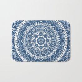 Blue Mandala Pattern Bath Mat