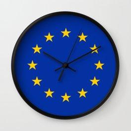 Flag of Europe 3 Wall Clock