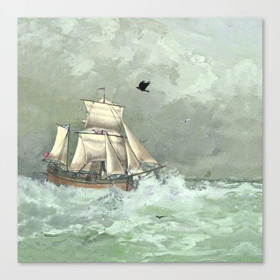 Breaking waves still Canvas Print