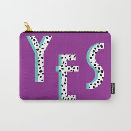 YES Poster | Purple Dalmatian Pattern Carry-All Pouch
