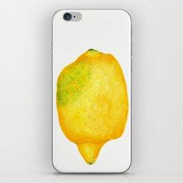Fresh Lemon Watercolor iPhone Skin