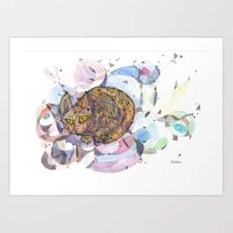 catcolored Art Print