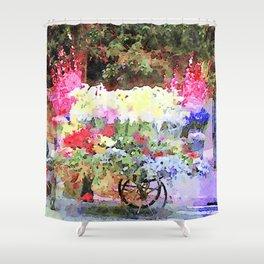 Roma: flower cart Shower Curtain