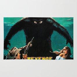 Revenge of Bigfoot, vintage horror movie poster Rug