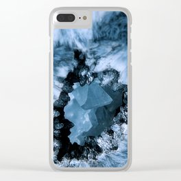 Crystal Blue Fantasy Clear iPhone Case