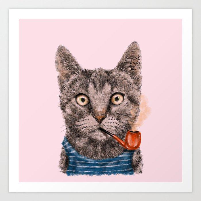 Sailor Cat IX Art Print