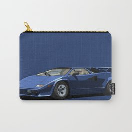 Lamborghini Countach 5000QV Blu Acapulco (US spec) Carry-All Pouch