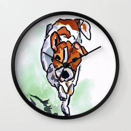 Puppy Greeting Dog Portrait Wall Clock