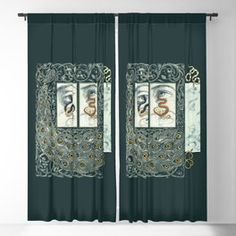 Snake Eyes :: Fine Art Collage Blackout Curtain