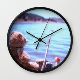 Have you ever seen a bear fishing? Wall Clock