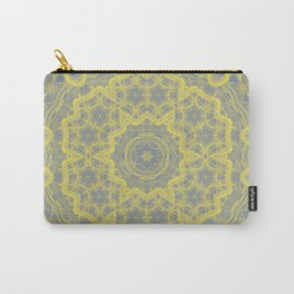 Dusty blue and yellow mandala Carry-All Pouch