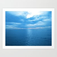 Ocean In Blue On A New Year's Day Art Print