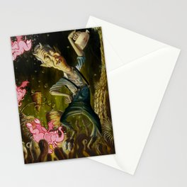 The Demon of Round Cypress Stationery Cards