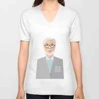 hayao miyazaki V-neck T-shirts featuring Hayao Miyazaki by monscribbles