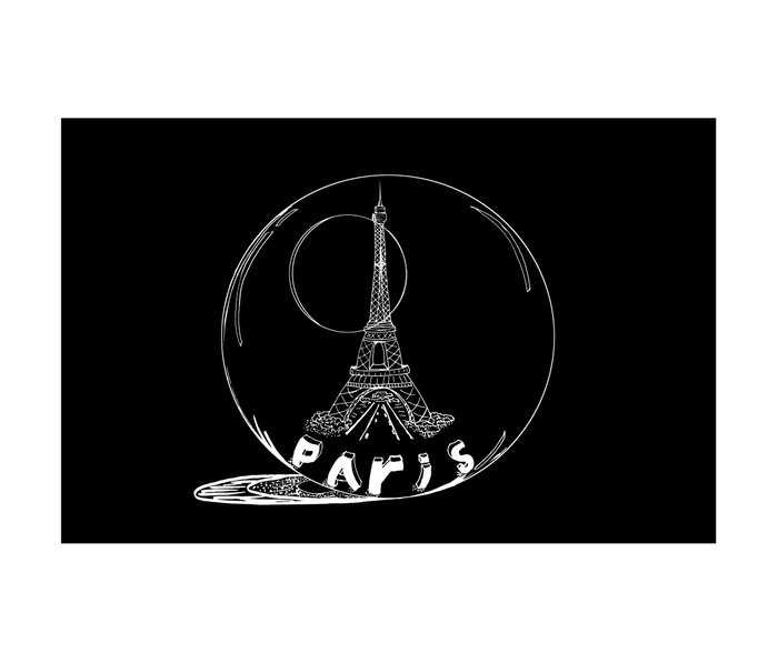 Paris in a glass ball Metal Travel Mug