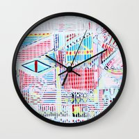 las vegas Wall Clocks featuring Vegas by Jelly Chen