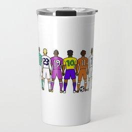Soccer Backs Travel Mug