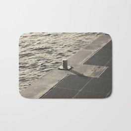 Sea Pier Geometry Bath Mat