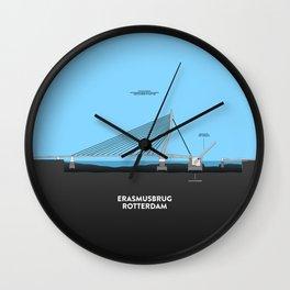 Erasmus bridge Rotterdam Wall Clock