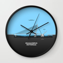 Erasmus bridge Rotterdam Wall Clock