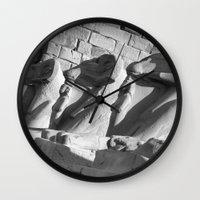 guardians Wall Clocks featuring Loyal Guardians by Brian Raggatt