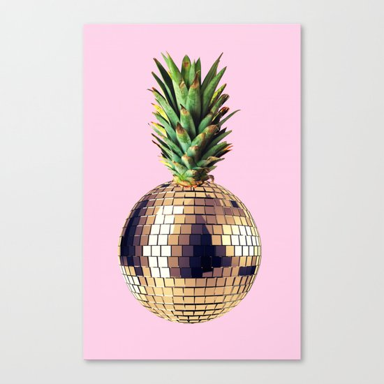 Ananas party (pineapple) Pink version Canvas Print