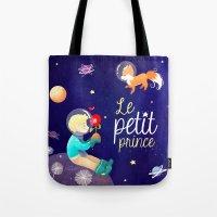 le petit prince Tote Bags featuring Le petit prince by LadyAlouette