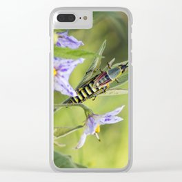 grasshopper time Clear iPhone Case