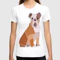 english bulldog T-shirts featuring English Bulldog by ANIMALS + BLACK