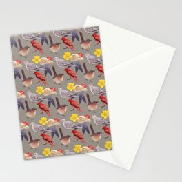 Bird Pattern Stationery Cards