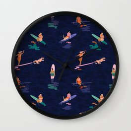 Surf goddes Wall Clock
