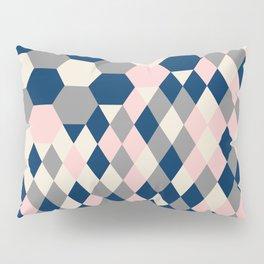 Honeycomb Blush and Grey Pillow Sham
