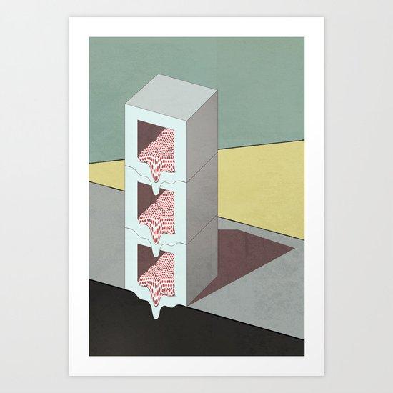 Melt Boxes Art Print