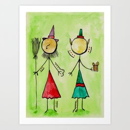 """#cagsticks """"The witch and the Elf"""" Art Print"""
