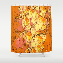 Indian Summer Yucca Flowers Shower Curtain
