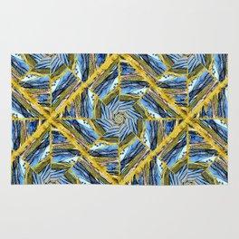 golden day kaleidoscope pattern Rug