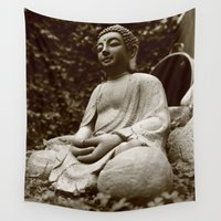 buddha Wall Tapestries featuring Buddha by Falko Follert Art-FF77