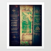 jane eyre Art Prints featuring Jane Eyre by Apples and Spindles