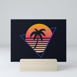 Retrowave sunset 3 / 80s - 90s Retro Mini Art Print