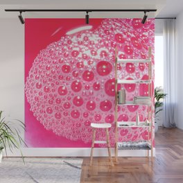 Red Bubbles Wall Mural