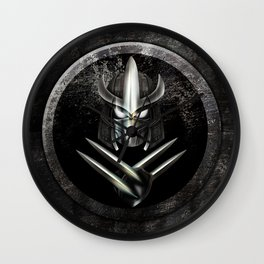Rustic Metal samurai shredder Mask iPhone 4 4s 5 5c 6, pillow case, mugs and tshirt Wall Clock