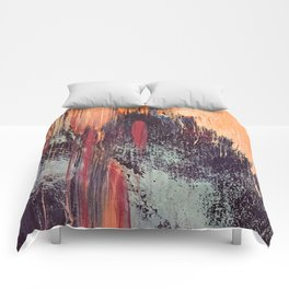 Night and Day: pretty abstract piece in orange, purple, and blues Comforters