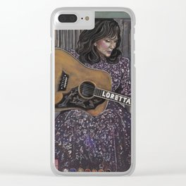 Loretta Lynn Clear iPhone Case