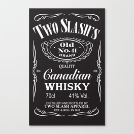 Whisky Label Canvas Print