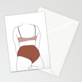 Figure line drawing illustration - Elisha Stationery Cards