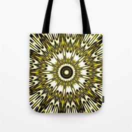 Yellow White Black Sun Explosion Tote Bag