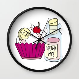 Eat me, drink me Wall Clock